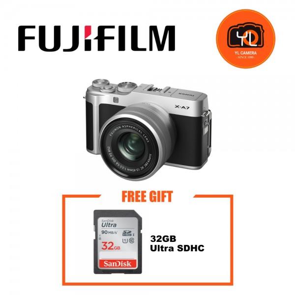 Fujifilm X-A7 + XC 15-45mm f/3.5-5.6 OIS PZ (Silver) [Free 32GB SD Card]