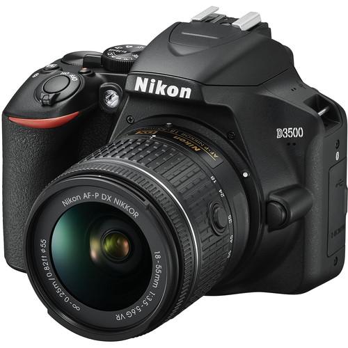 Nikon D3500 + 18-55mm F3.5-5.6G AF-P DX ED VR (Free 16GB SD Card & Camera Bag)