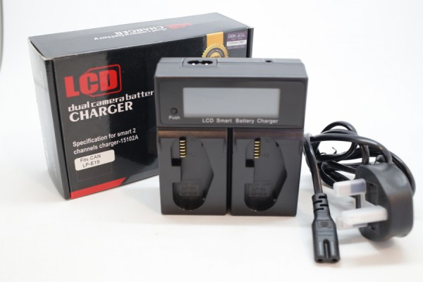 DBK Dual LCD Battery Charger BLF19 (Panasonic Battery)