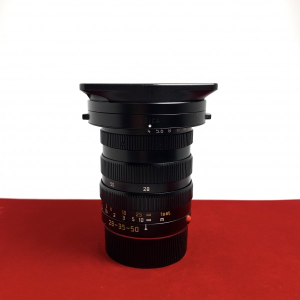 [USED-PJ33] Leica 28-35-50MM F4 TRI-ELMAR-M ASPH (E55) 11890, 90% Like New Condition (S/N:3813050)