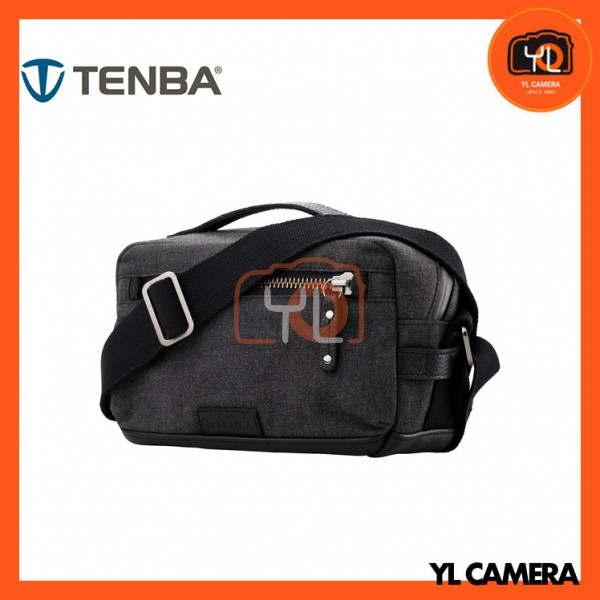 Tenba Cooper 6 Messenger Bag with Leather Accents (Gray)