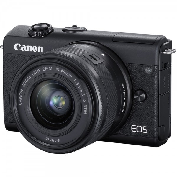 (CNY Offer) Canon EOS-M100 + EF-M 15-45mm F/3.5-6.3 IS STM (Black) [Free 16GB SD Card + Camera Bag ]