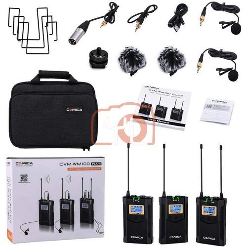 (PRE-ORDER) Comica Audio CVM-WM100 PLUS 2-Person Camera-Mount Wireless Omni Lavalier Microphone System