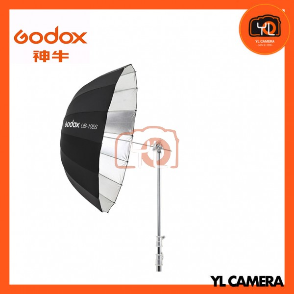 (New Product) Godox UB-105S Parabolic Umbrella (Silver)