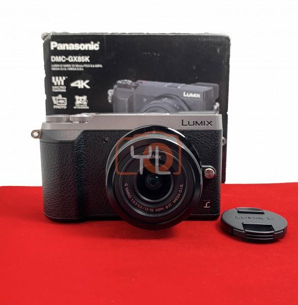 [USED-PJ33] Panasonic DMC-GX85 With 12-32mm F3.5-5.6 Mega OIS (Silver), 90% Like New Condition (S/N:WG7JC006506)