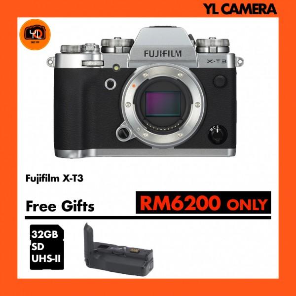 Fujifilm X-T3 W/ Vertical Battery Grip (Silver)