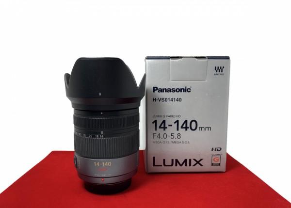[USED-PJ33] Panasonic 14-140MM F4-5.8 HD G Vario Mega O.I.S, 95% Like New Condition (S/N:XT9SD005141)