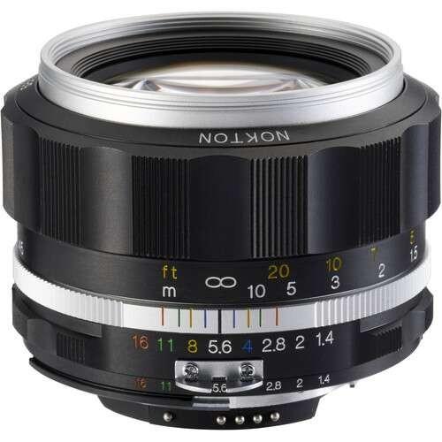 Voigtlander 58mm F1.4 Nokton SL II S Lens - Silver (For Nikon F)