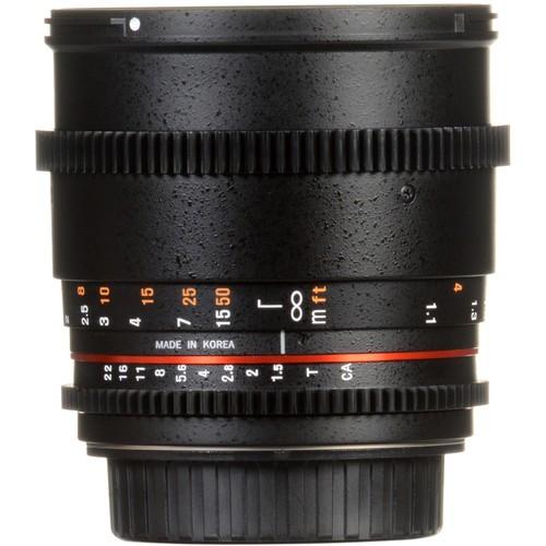 Samyang 85mm T1.5 VDSLRII Cine Lens for Fujifilm X- Mount
