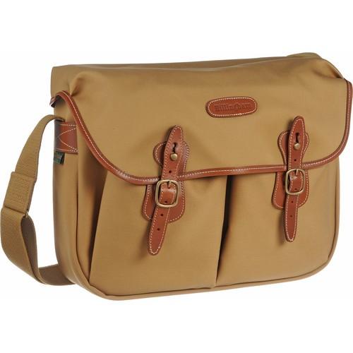 (SPECIAL DEAL) Billingham Hadley Large Canvas Shoulder Bag (Khaki with Tan Leather Trim)