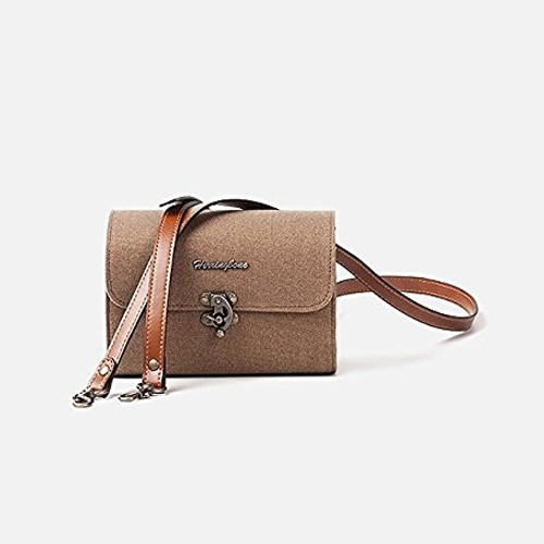 (SPECIAL DEAL) Herringbone Tiny Mellow Canvas Camera Bag (Khaki)