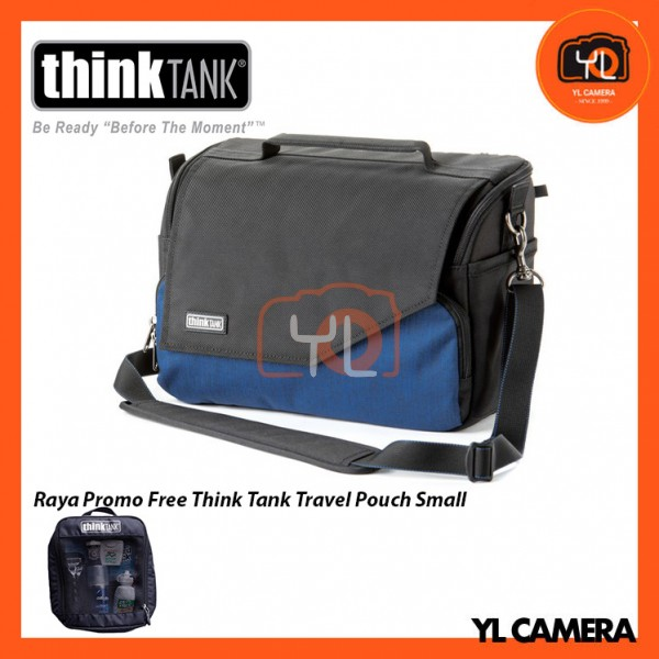 Think Tank Photo Mirrorless Mover 30i Camera Bag (Dark Blue) Free Think Tank Photo Travel Pouch - Small