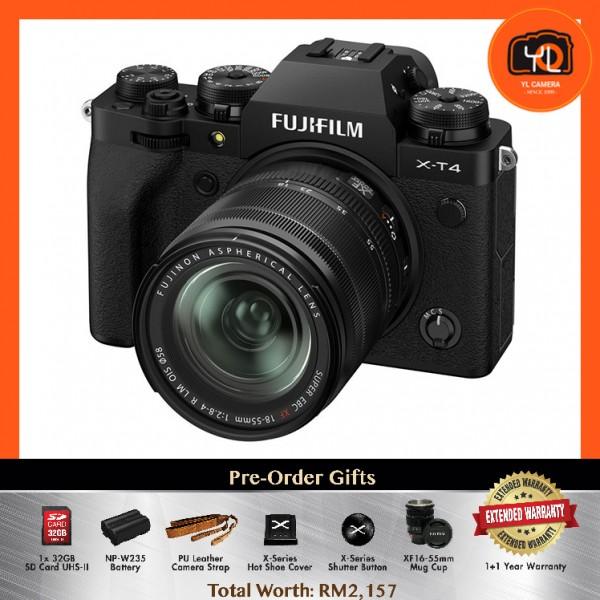 (Pre-Order) Fujifilm X-T4 + XF 18-55mm f/2.8-4R LM OIS - Black