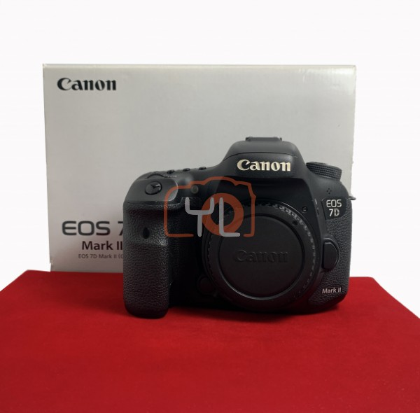 [USED-PJ33] Canon Eos 7D Mark II Body (Shutter Court : 50K), 85% Like New Condition (S/N:048021003161)