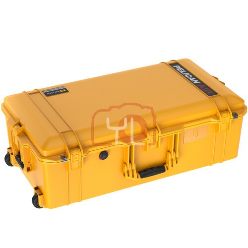 Pelican 1615 Air Wheeled Hard Case with Foam (Yellow)