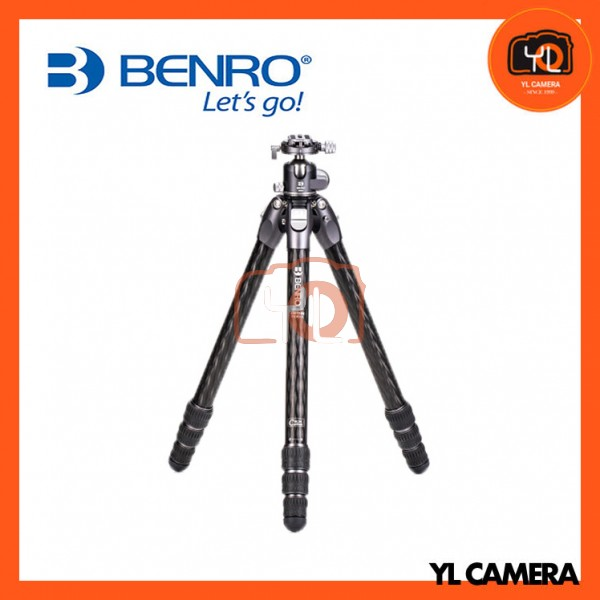 Benro TTOR34CGX35 Tortoise Columnless Carbon Fiber Three Series 4-Leg Section Tripod with GX35 Ballhead