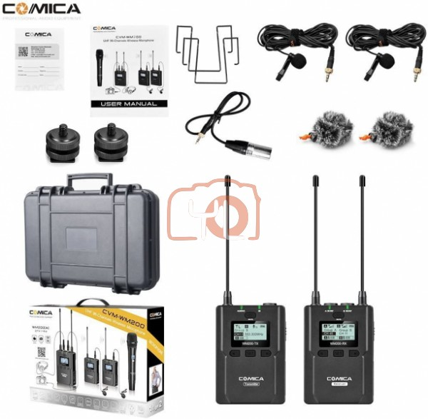(PRE-ORDER) Comica Audio CVM-WM200C Camera-Mount Wireless Omni Lavalier Microphone System