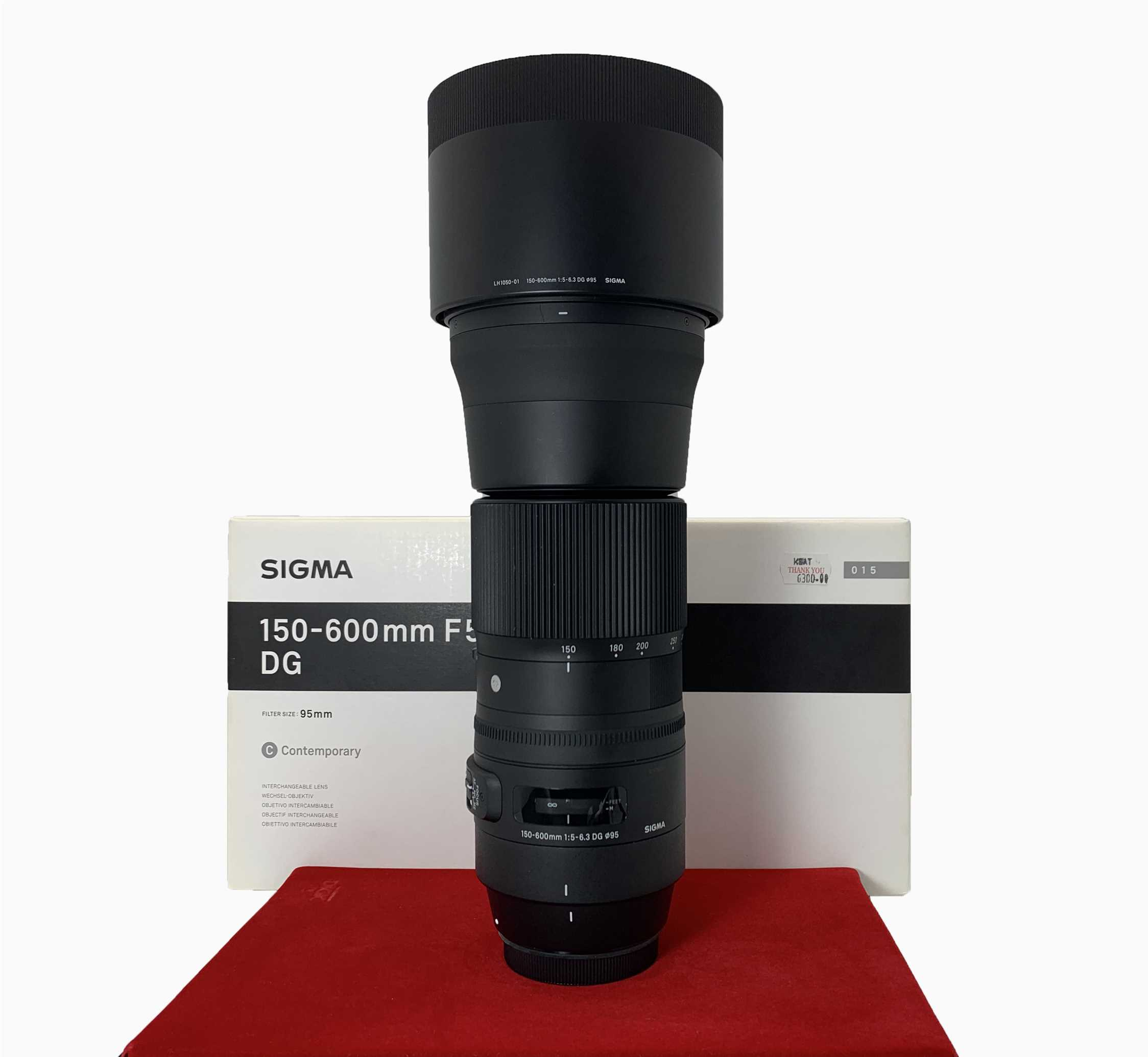 [USED-PJ33] Sigma 150-600MM F5-6.3 DG OS HSM Contemporary Lens For Canon,95% Like New Condition,(S/N:51078021)