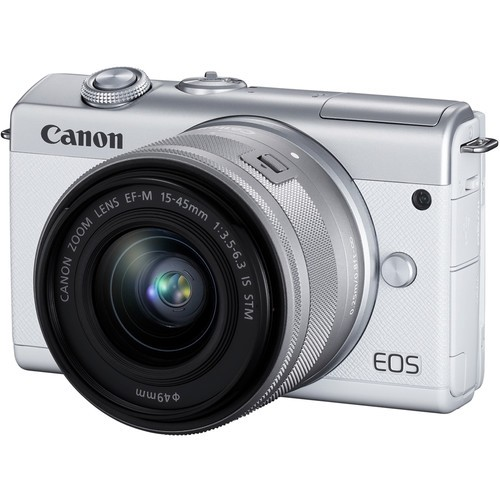Canon EOS M200 + EF-M 15-45mm F/3.5-6.3 IS STM (WHITE) [Free 32GB SD Card + Camera Bag ]