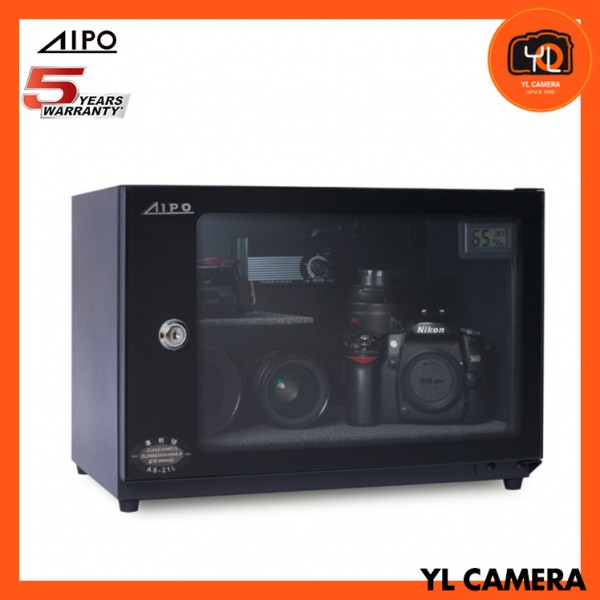 AIPO Analog Series AS-25 Dry Cabinet (25L) with Digital Display - Black