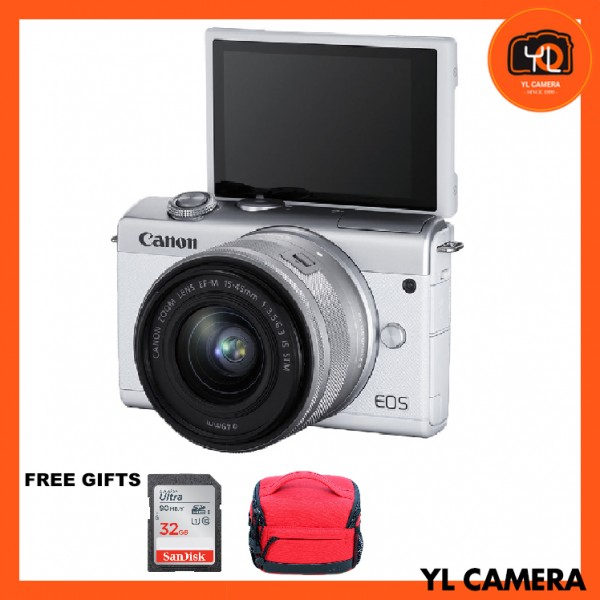 (Promotion) Canon EOS M200 + EF-M 15-45mm F/3.5-6.3 IS STM (WHITE) [Free 32GB SD Card + Camera Bag ]