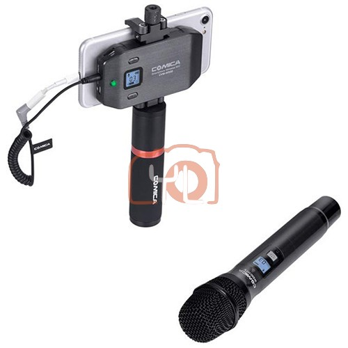 Comica Audio CVM-WS50H Wireless Handheld Microphone Bundle for Smartphones