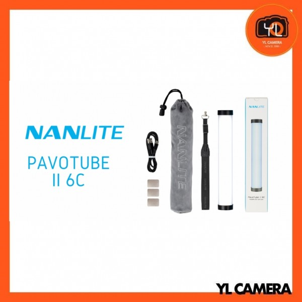 Nanlite PavoTube ll 6C RGBWW LED Tube With Removable Grid