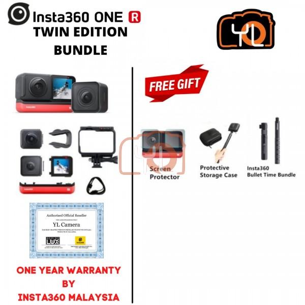 Insta360 ONE R Twin Edition ( Free Lexar 64GB 1066x Micro SD Card ) - BUNDLE