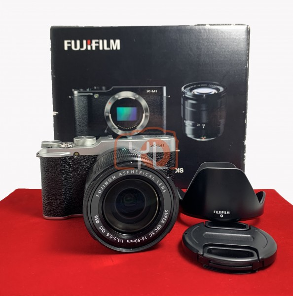 [USED-PJ33] Fujifilm X-M1 With 16-50MM F3.5-5.6 OIS XC, 80% Like New Condition (S/N:37L08177)