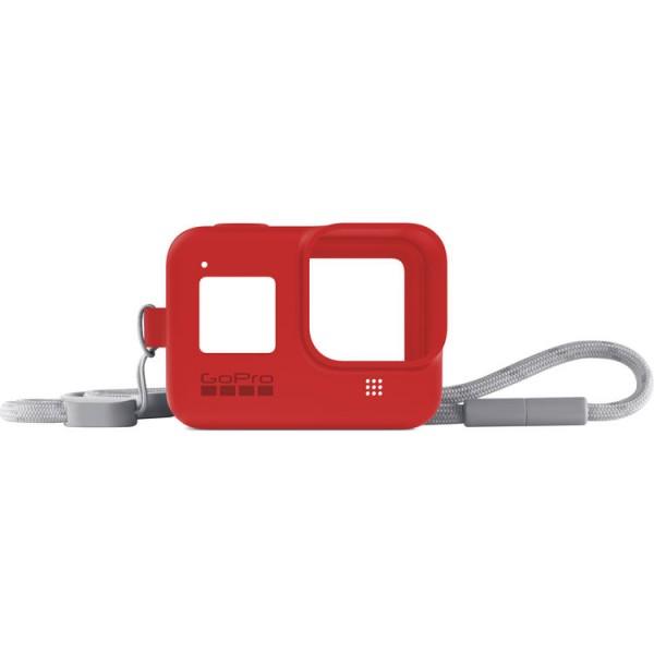 GoPro HERO8 Sleeve + Lanyard (Firecracker Red)