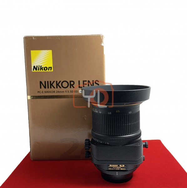 [USED-PJ33] NIKON 24MM F3.5D PC-E ED N Tilt/Shift LENS, 90% Like New Condition (S/N:211387)