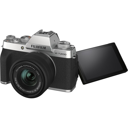 (Promotion) Fujifilm XT200 + XC 15-45mm f/3.5-5.6 OIS PZ (Silver) [Free 32GB SD Card]