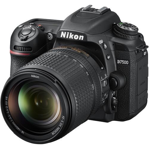 Nikon D7500 + 18-140mm F3.5-5.6G AF-S DX ED VR (Free 16GB SD Card & Camera Bag)