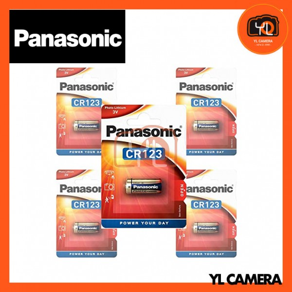 Panasonic CR123A Battery 5 Pack