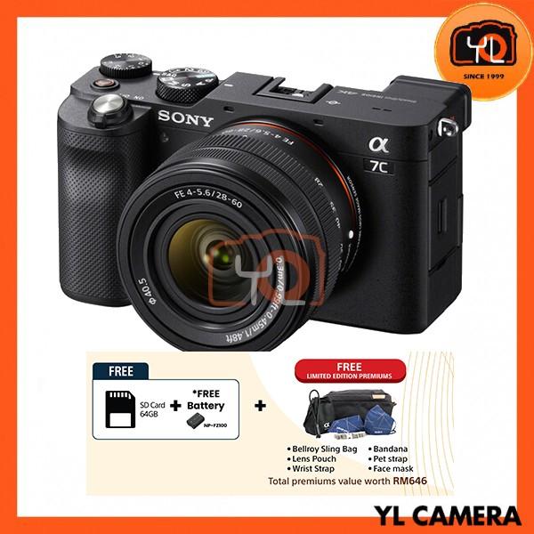 Sony A7C + FE 28-60mm F4-5.6 - Black (Free 64GB SD Card)