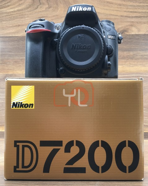 [USED @ YL LOW YAT]-Nikon D7200 Camera Body [ shutter count 955 ],95% Condition Like New,S/N:6100656