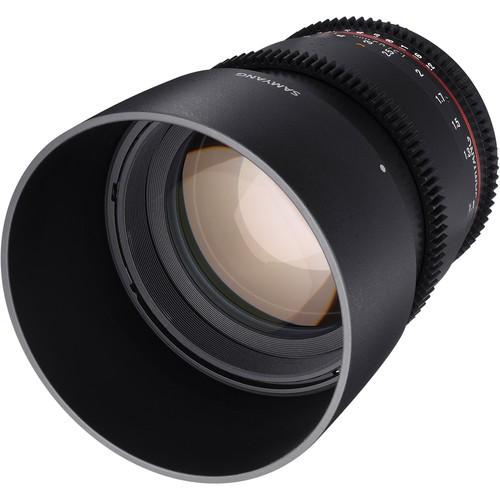 Samyang 85mm T1.5 VDSLRII Cine Lens for Nikon F Mount