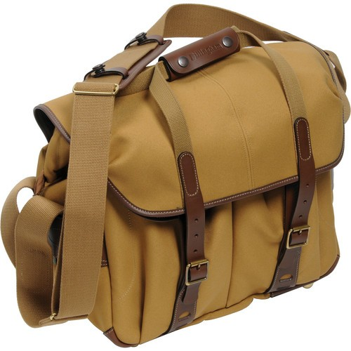 (Promotion) Billingham 307L Camera and Laptop Shoulder Bag (Khaki with Chocolate Leather)