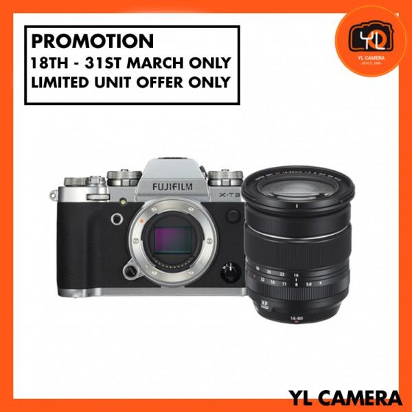 (Promotion) Fujifilm X-T3 + XF 16-80mm F4 R OIS WR - Silver [Free 32GB SD Card UHS-II]