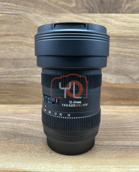 [USED @ YL LOW YAT]-Sigma 12-24mm F4.5-5.6 II DG HSM Lens For Canon,95% Condition Like New,S/N:14386748
