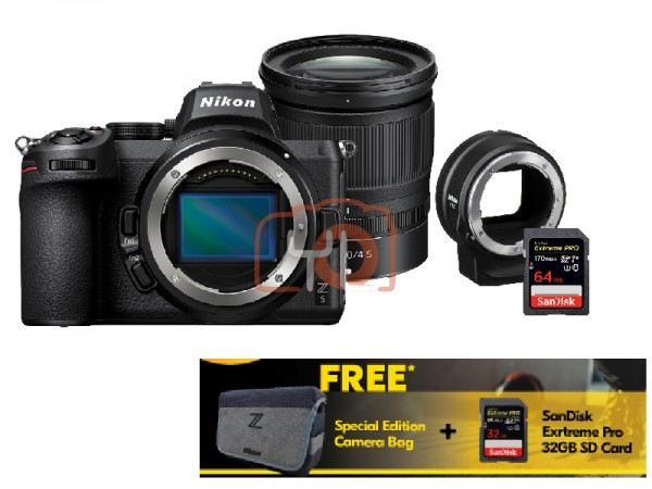 Nikon Z5 Full Frame Mirrorless Camera + Z 24-70mm F4 W/ FTZ Adapter [Free 32GB SD Card + Camera Bag]