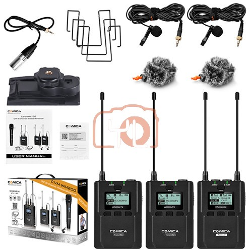 (PRE-ORDER) Comica Audio CVM-WM200A 2-Person Camera-Mount Wireless Omni Lavalier Microphone System