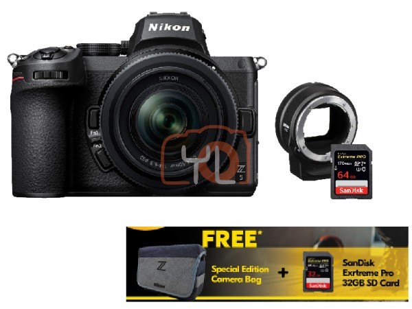 Nikon Z5 Full Frame Mirrorless Camera + Z 24-50mm f/4-6.3 W/ FTZ Adapter [Free 32GB SD Card + Camera Bag]