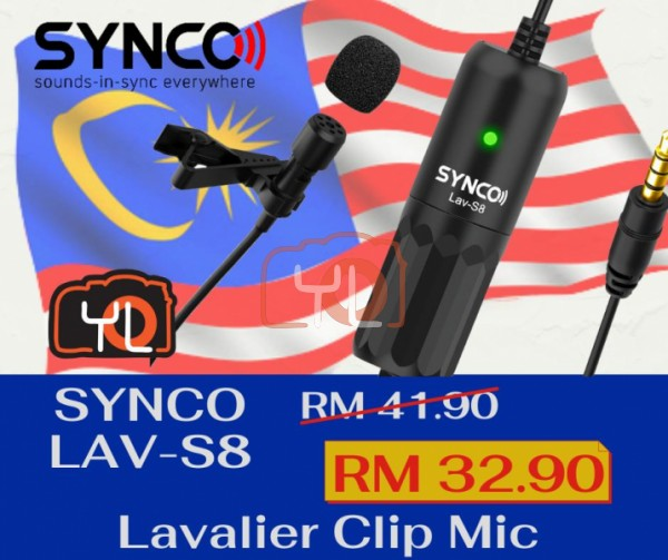 Synco Audio Lav-S8 Omnidirectional Lavalier Microphone