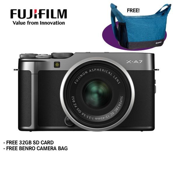 Fujifilm X-A7 + XC 15-45mm f/3.5-5.6 OIS PZ (Dark Silver) [Free 32GB SD Card]
