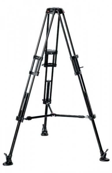 Manfrotto 546B Alu Twin Leg with middle spreader video tripod