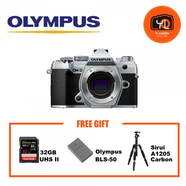 (Promotion) Olympus OM-D E-M5 Mark III - Silver (Free Lexar 64GB SD Card 150MB/s)