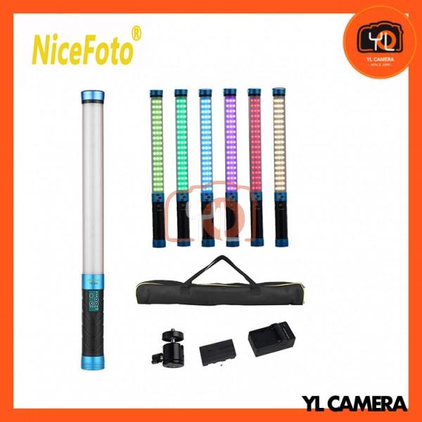 NiceFoto Handheld Bi-Color RGB LED Light Wand TC-288 3000K-9000K Light Bar Magic Tube Light
