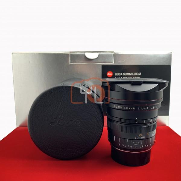 [USED-PJ33] Leica 21mm F1.4 Summilux-M ASPH 11647, 85% Like New Condition (S/N:4079384)