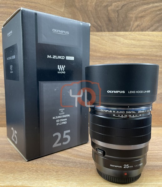[USED @ YL LOW YAT]-Olympus ED 25mm F1.2 PRO M.Zuiko Lens,98% Condition Like New,S/N:348002910